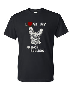 Love My French Bulldog t-shirt crew neck black