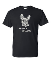 Load image into Gallery viewer, French Bulldog t-shirt crew neck black