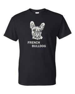 French Bulldog t-shirt crew neck black