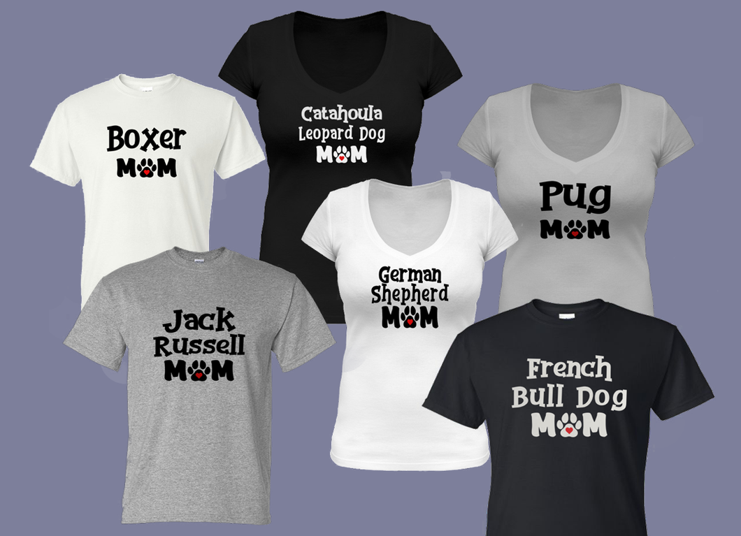 Dog Mom T-Shirts