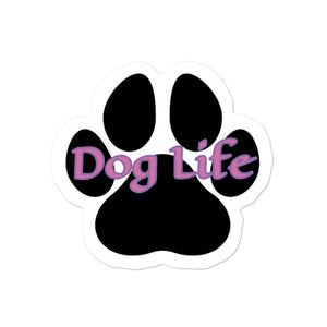 Dog Life pink Bubble-free stickers