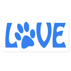 Love Paw Print Bubble-free stickers