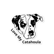 Load image into Gallery viewer, Love My Catahoula Bubble-free Vinyl Stickers