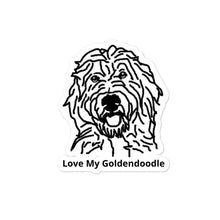 Load image into Gallery viewer, Love My Goldendoodle Bubble-free stickers