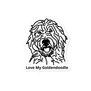 Love My Goldendoodle Bubble-free stickers