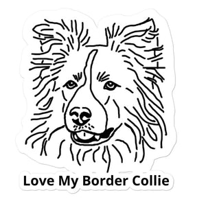 Love My Border Collie Bubble-free stickers
