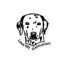 Load image into Gallery viewer, Love My Dalmatian Bubble-free stickers