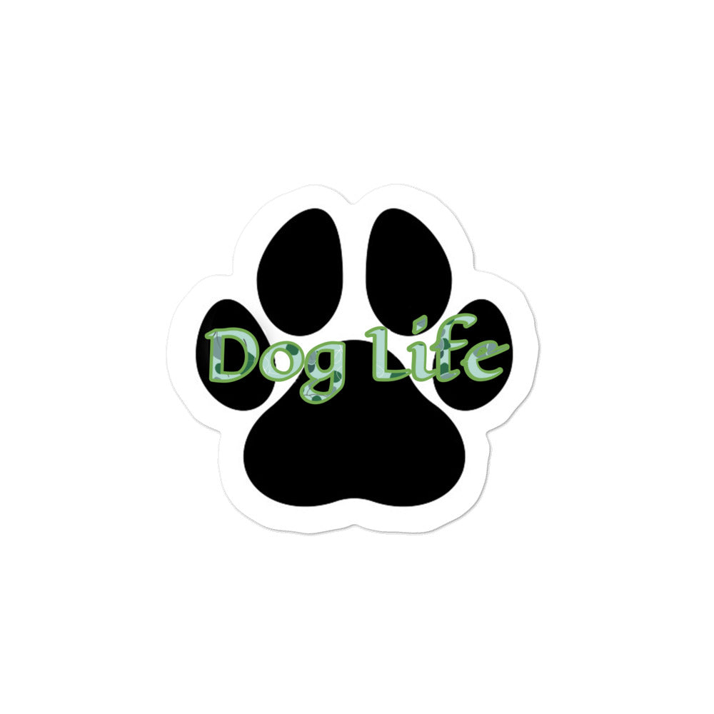Dog Life green pattern Bubble-free stickers