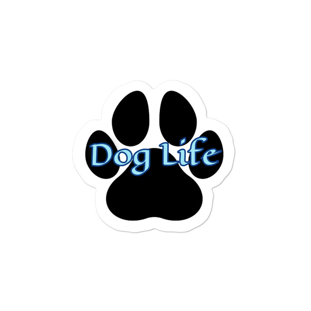 Dog Life blue Bubble-free stickers