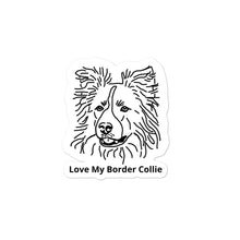 Load image into Gallery viewer, Love My Border Collie Bubble-free stickers