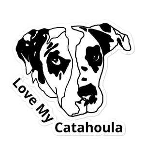 Love My Catahoula Bubble-free Vinyl Stickers