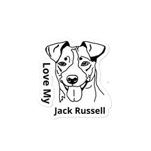 Load image into Gallery viewer, Love My Jack Russell Bubble-free stickers