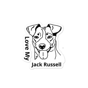 Love My Jack Russell Bubble-free stickers