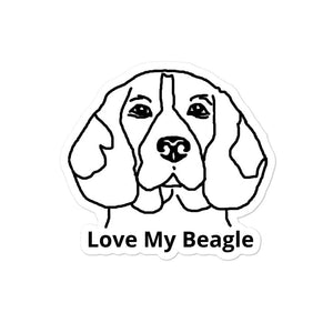 Love My Beagle Bubble-free stickers