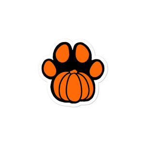 Pumpkin Paw Bubble-free stickers