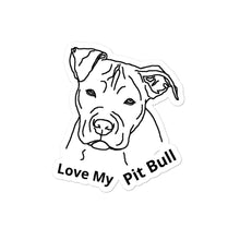 Load image into Gallery viewer, Pit Bull Bubble-free stickers