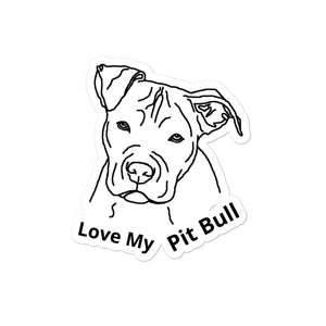 Pit Bull Bubble-free stickers