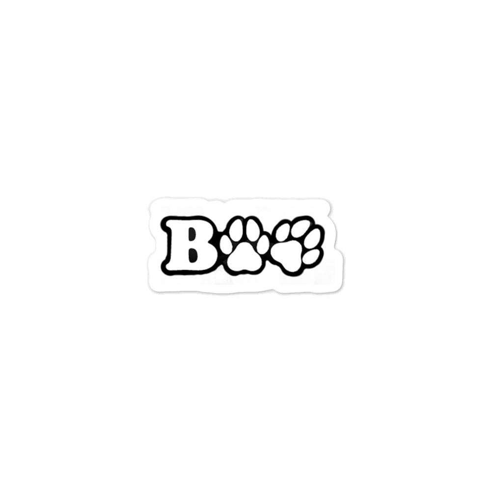 BOO Paw Bubble-free stickers