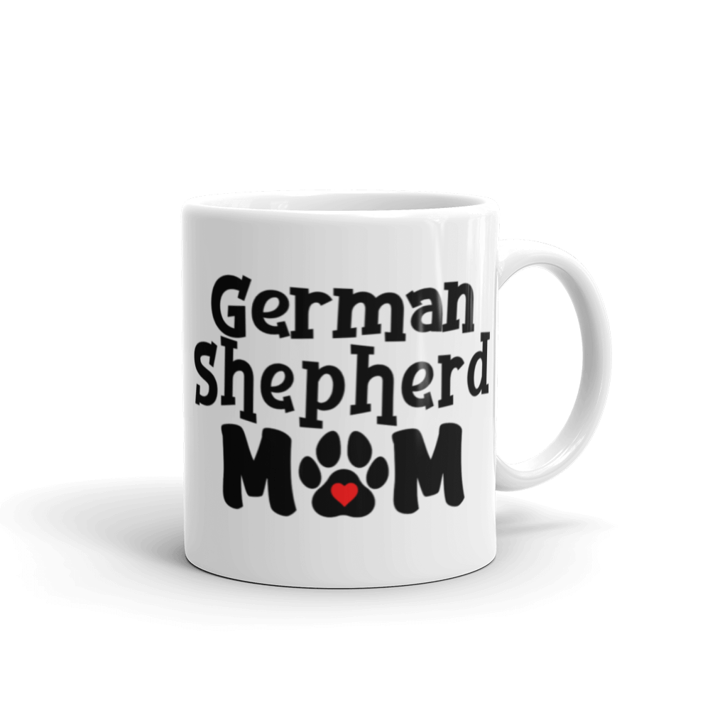 German Shepherd Mom White Glossy Mug