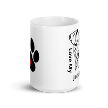 Load image into Gallery viewer, Love My Jack Russell White Glossy Mug