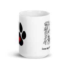 Load image into Gallery viewer, Love My Border Collie White Glossy Mug