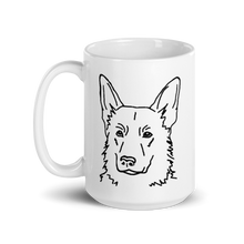 Load image into Gallery viewer, German Shepherd Mom White Glossy Mug