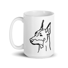 Load image into Gallery viewer, Doberman Mom White Glossy Mug