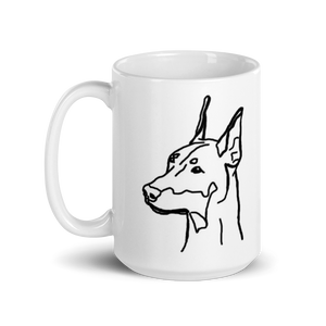 Doberman Mom White Glossy Mug