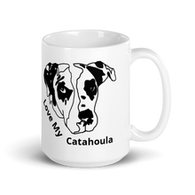 Load image into Gallery viewer, Love My Catahoula White Glossy Mug