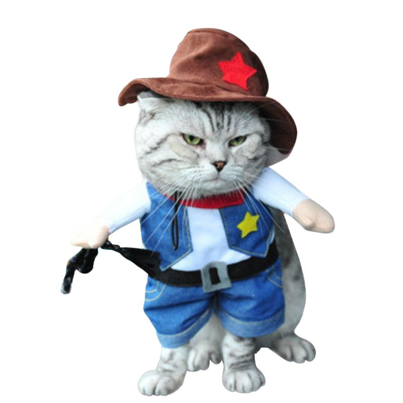 Adorable Costume for Cats - Great for Events & Parties-Cat Costumes-Cat Cowboy Outfit-S-1551714-cat-cowboy-outfit-s-Paws and Whiskers