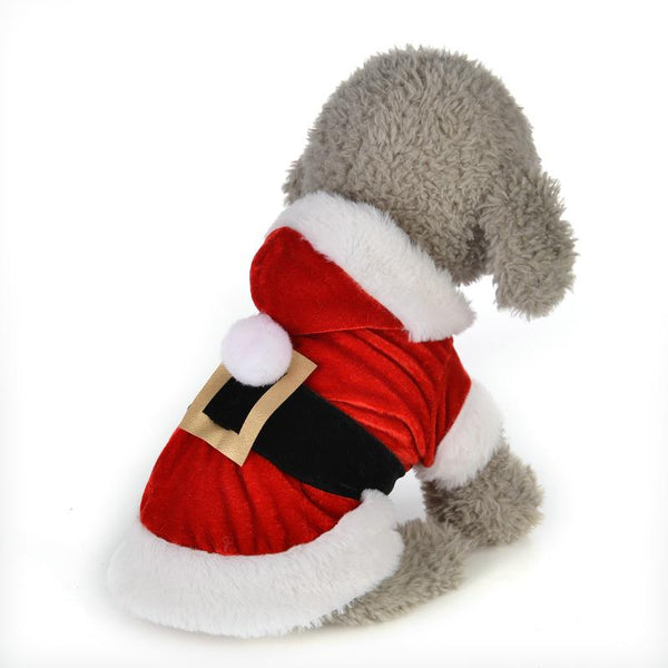 Adorable Santa Dog Costume with Long Sleeve for Small Dogs-Dog Costumes & Dresses-XXS-28372247-red-xxs-Paws and Whiskers
