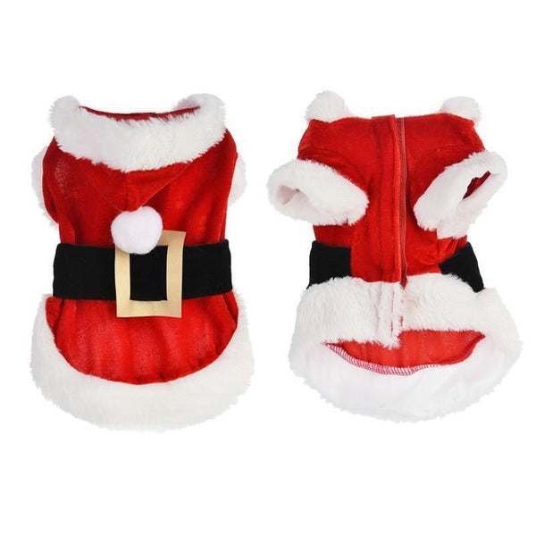 Adorable Santa Dog Costume with Long Sleeve for Small Dogs-Dog Costumes & Dresses-L-28372247-red-l-Paws and Whiskers