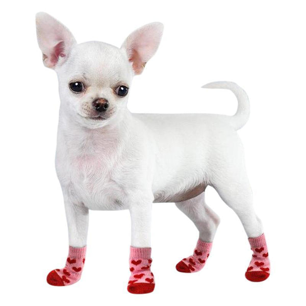 Anti Slip Cotton Dog Socks-Dog Shoes & Socks-Gray-S-27772594-gray-s-Paws and Whiskers