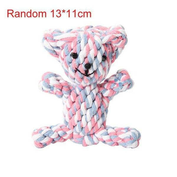 Assorted Rope Cotton Dog Chew Toy with Adorable Shapes-Dog Dental care-Bear-23520566-bear-free-size-Paws and Whiskers