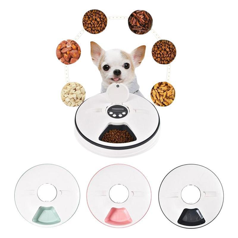 Automatic Dog Feeder with Musical Alert & 24hr Timer-Dog Automatic Feeders-Black-26982924-white-m-china-Paws and Whiskers