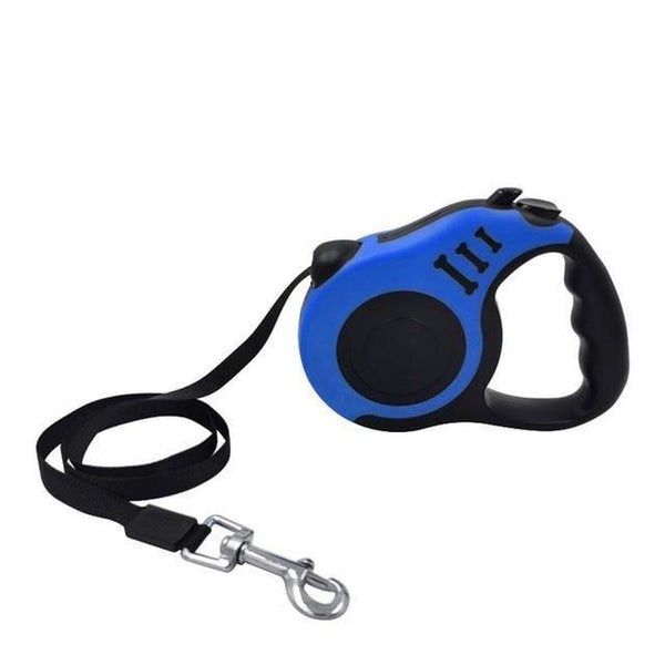 Automatic Retractable Nylon Dog Leash with ABS Enclosure-Dog Leashes-Blue-3 M-17451878-blue-2-3-m-china-Paws and Whiskers