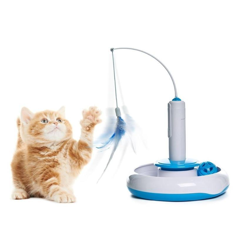 Automatic Rotating Cat Toy With Sound and LED Light-Cat Balls & Chasers-23477758-wj0302-free-size-china-Paws and Whiskers