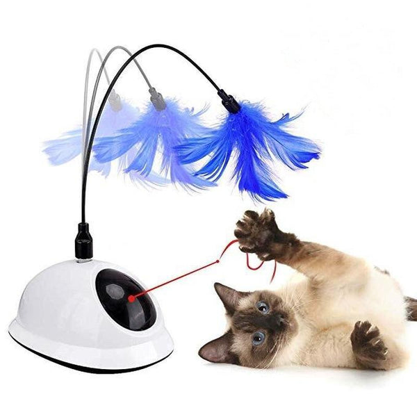 Automatic Rotating Teaser Cat Toy with Sound and Laser Light-Cat Balls & Chasers-Feather & Light-34997808-cat-toy2-free-size-china-Paws and Whiskers