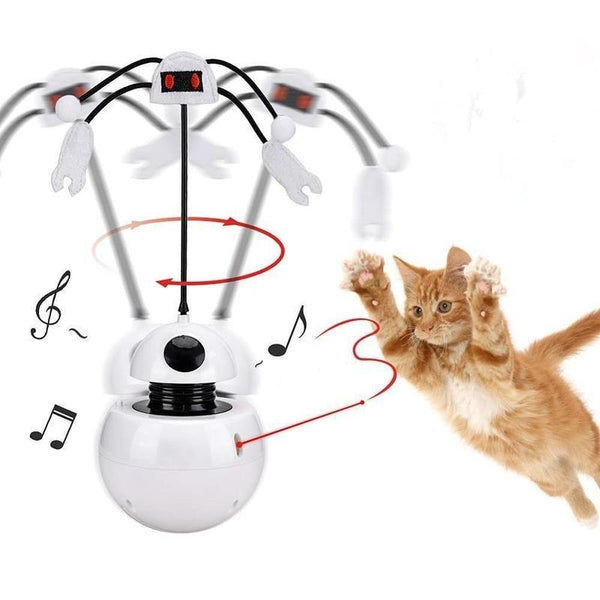 Automatic Rotating Teaser Cat Toy with Sound and Laser Light-Cat Balls & Chasers-Music & Light-34997808-cat-toy1-free-size-china-Paws and Whiskers