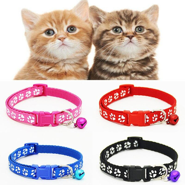 Beautiful Kitten Collar with Quick Release Clip and Bell-Cat Collars-Black-S 19-32cm X 1.0cm-20380780-black-s-19-32cm-x-1-0cm-Paws and Whiskers