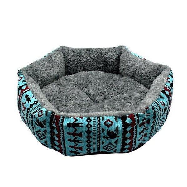 Best Dog Cuddler Bed Made from Pure Cotton-Dog Beds-Blue-S-27247476-11blue-s-Paws and Whiskers