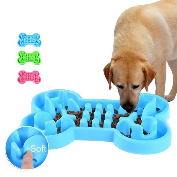 Bone-Shaped Dog Slow Feeder Maze for Dog IQ Training-Dog Slow Feeders-Blue-S-22214944-blue-s-24x17x3-8-cm-Paws and Whiskers