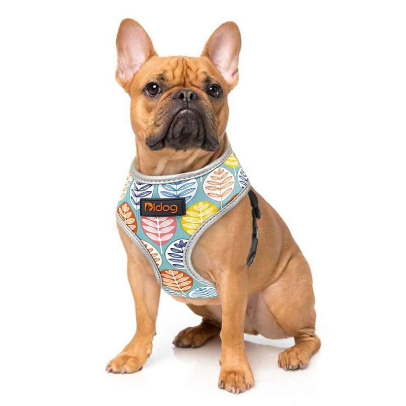 Breathable Dog Vest Harness with Reflective Edge-Dog Harnesses-Green Print-S-30138280-green-s-Paws and Whiskers