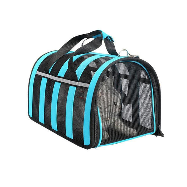 Breathable Mesh Cat Carrier Bag-Cat Travel Carriers-Black-S = 35 x 22 x 22 cm-28735795-black-s-china-Paws and Whiskers
