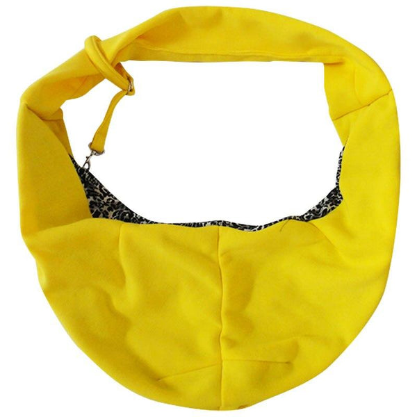 Bright Yellow Sling Dog Carrier Backpack for Small Dogs-Dog Backpacks-8194366-yellow-m-Paws and Whiskers