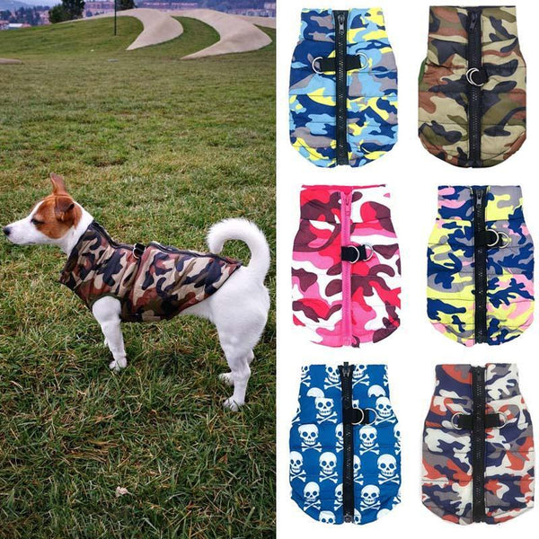 Camouflage Pattern Small Dog Sweaters for Breezy Days-Dog Sweaters & Coats-Colorful Camo-XS-8601200-colorful-camo-xs-Paws and Whiskers