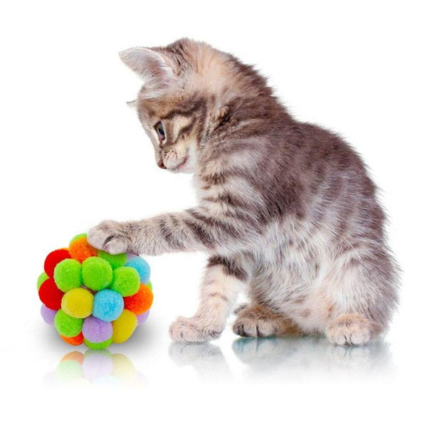 Candy Color Ball Cat Toy Filled with Organic Catnip-Cat Balls & Chasers-S-22619553-candy-color-s-Paws and Whiskers