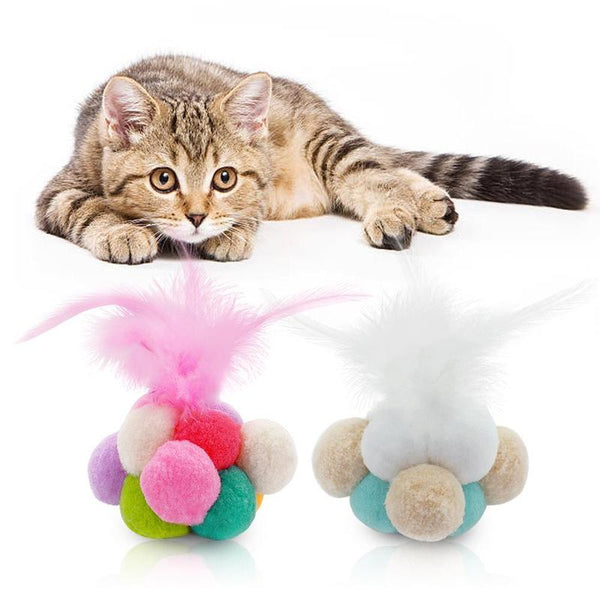 Candy Color Cat Ball Made from Catnip-Cat Balls & Chasers-Pink-23477960-pink-s-Paws and Whiskers