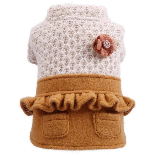 Casual Dog Clothes for Any Occasion Fits both Cats and Dogs-Dog Costumes & Dresses-XS-28497032-white-brown-xs-Paws and Whiskers