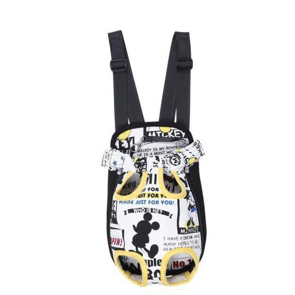 Colorful Dog Backpack with Four Legs Out Design-Dog Backpacks-Mickey Mouse-S-14116988-white-s-Paws and Whiskers